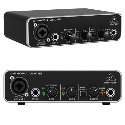 Interface de ÁUDIO U-PHORIA UMC22 BEHRINGER