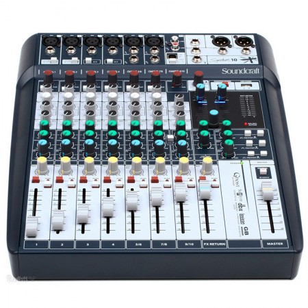 MESA DE SOM SOUNDCRAFT SIGNATURE 10 CANAIS MIXER