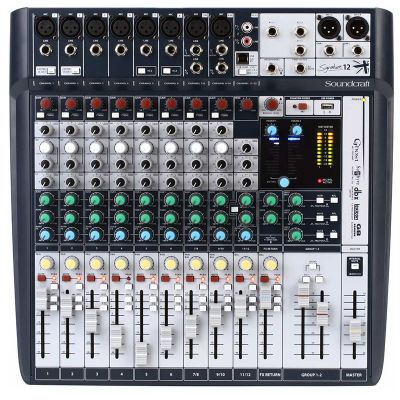 MESA DE SOM SOUNDCRAFT SIGNATURE 12 CANAIS MIXER