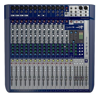 MESA DE SOM SOUNDCRAFT SIGNATURE 16 CANAIS MIXER