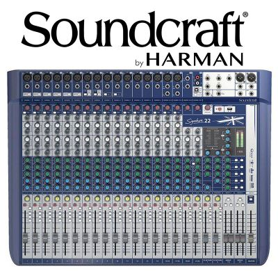 MESA DE SOM SOUNDCRAFT SIGNATURE 22 CANAIS MIXER