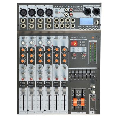 Mesa De Som Analógica USB/Efx SX802FX USB Soundcraft