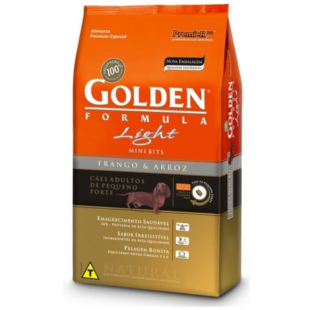 GOLDEN FORMULA LIGHT MINI BITS FRANGO E ARROZ 3KG