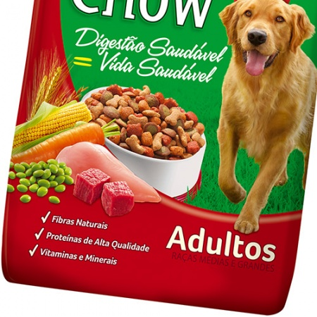 PURINA DOG CHOW ADULTOS CARNE E VEGETAIS 1KG