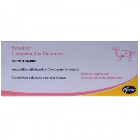 SYNULOX 250MG 10 COMPRIMIDOS PALATÁVEIS