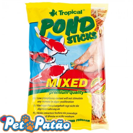 TROPICAL KOI & GOLDFISH MIXED STICKS 90G ( BAG ) - UN