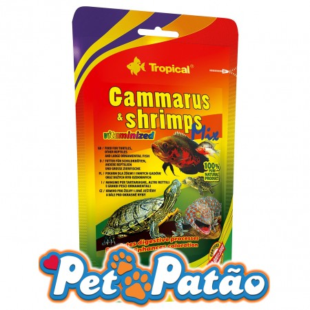 TROPICAL GAMMARUS & SHRIMPS 130G MIX BAG - UN