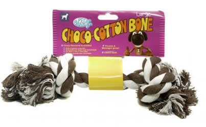 MORDEDOR DE CORDA SABOR CHOCOLATE CHOCO-COTTON BONE - PET BRAND