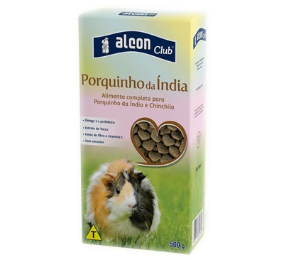 ALCON CLUB PORQUINHO DA INDIA E CHINCHILA 500G - UN