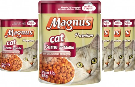 MAGNUS SACHE CAT CARNE AO MOLHO 18 x 85G - DISPLAY