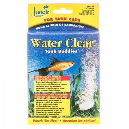 JUNGLE WATER CLEAR TANK BUDDIES 8 PASTILHAS - UN