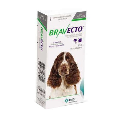 BRAVECTO ANTIPULGAS E CARRAPATICIDA ORAL 10 A 20KG - MSD