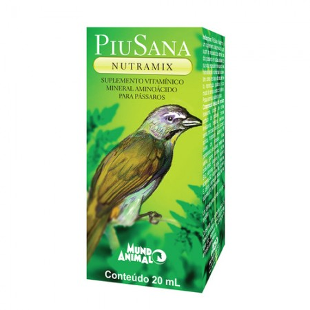 PIUSANA NUTRAMIX VITAMINA PARA AVES 20ML - MUNDO ANIMAL