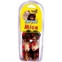 CAT TOY MINI RATINHOS DE PELUCIA PACK C/6 UNIDADES