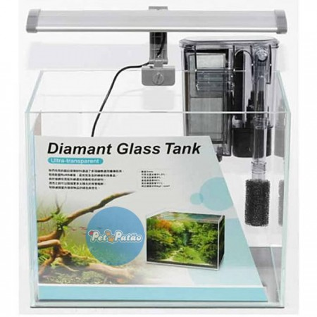 ISTA AQUARIO ULTRA TRANSP DIAMANT GLASS TANK SET 31CM x 18CM x 24CM I-856 - UN