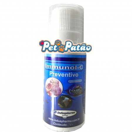 IMMUNOL-C 30ML PREVENTIVO P/ PEIXES COM ALHO E VITAMINA C - INDUSPHARMA