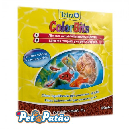 TETRA COLORBITS TROPICAL GRANULES SACHE 15G - ( EX COLOR BITS )
