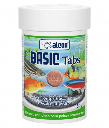 ALCON BASIC TABS 30G COLA NO VIDRO ( kit 9 potes )