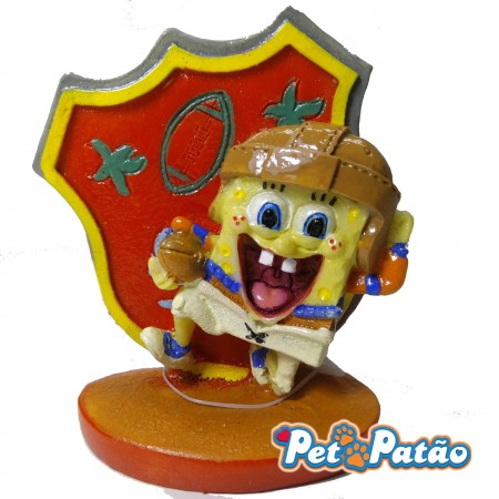 TURMA DO BOB ESPONJA - FOOTBALL PLAYER ( SBR43 ) 7CM - ENFEITE NICKELODEON