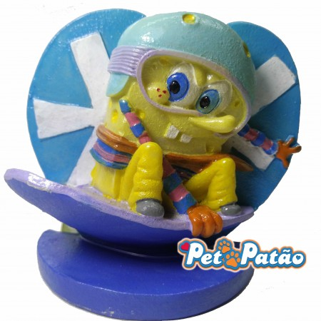 TURMA DO BOB ESPONJA SNOW BOARD ( SBR44 ) 7CM - ENFEITE NICKELODEON