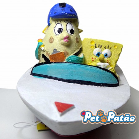 TURMA DO BOB ESPONJA MR PUFF NO BARCO ( SBR23 ) 7CM - ENFEITE NICKELODEON