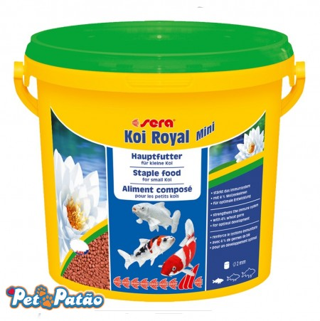 SERA KOI ROYAL MINI 900G BALDE RAÇÃO P/ CARPAS - UN