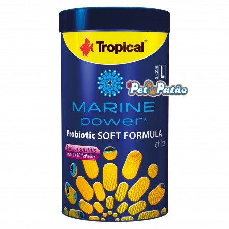 TROPICAL MARINE POWER PROBIOTIC SOFT FORMULA SIZE L 130G CHIPS - UN