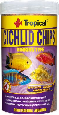 TROPICAL CICHLID CHIPS 130G