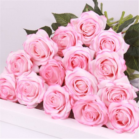 BUQUE DE ROSAS PINK LIGHT REAL AO TOQUE COM 10 UNIDADES