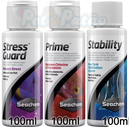 SEACHEM KIT PRIME + STRESS GUARD + STABILITY 100ML - UN