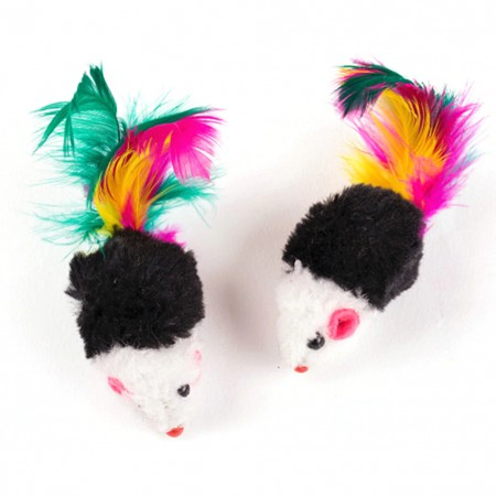 CAT TOY MINI RATINHOS DE PELUCIA PACK C/10 UNIDADES PET PATAO