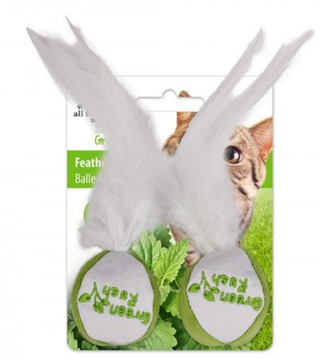 AFP BRINQUEDO PARA GATOS CAT NIP FEATHER BALL - UN  - foto principal 1