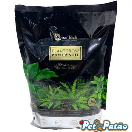 SUBSTRATO FERTIL PLANT GROW POWER SOIL 2,5KG PRETO OCEAN TECH PREMIUM NATURAL - UN