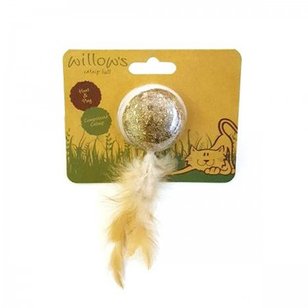 WILLOW´S CATNIP BALL COM PENA - UN