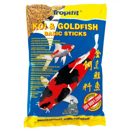 TROPICAL KOI & GOLDFISH BASIC STICKS BAG 800G - UN