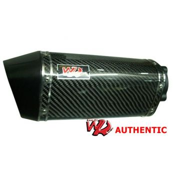 Ponteira WR Authentic em Fibra de Carbono para Honda CBX250 Twister