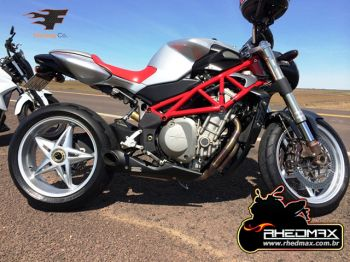 Escapamento FireTong Willy Made para MV Agusta BRUTALE 910S ou 910R Full 4x1