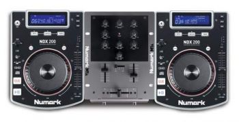 KIT DJ Numark CD DJ IN A BOX NDX200 CDJs, Mixer  e  Fone