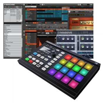 Controlador Native Instruments Sampler Maschine Mikro Mk2 Black