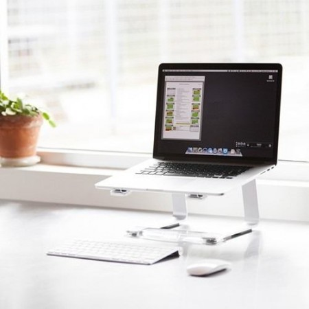 Suporte para Notebook CURV  S1 / S3 Laptop Stand Silver  - foto principal 4