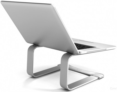 Suporte para Notebook CURV  S1 / S3 Laptop Stand Silver  - foto principal 5