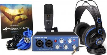 Kit Completo Interface de Gravação PreSonus Audiobox Studio