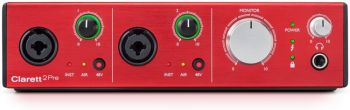 Interface de Áudio Focusrite Clarett 2Pre
