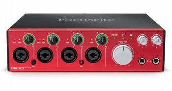 Interface de Áudio Focusrite Clarett 4Pre