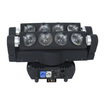 MOVING BEAM LED SPIDER 8X12W RGBW PAN E TILT LL-LSPD-MH