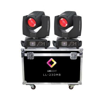 MOVING HEAD BEAM 230 7R TOUCH LL-230 16/20 CH 2 UNIDADES + CASE GRÁTIS