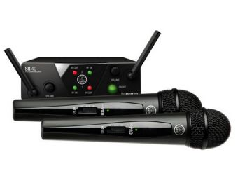 Microfone AKG WMS40 Mini Dual Vocal Set (2 Microfones UHF)