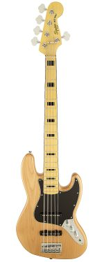 Squier Vintage Modified Jazz Bass Natural 5 Cordas 70's