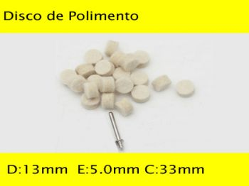 Kit de Feltros P/ Polimento WC-DF18