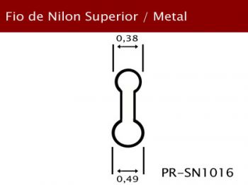 Fio Nylon Superior/Aro Metal 0,49mm PR-SN1016